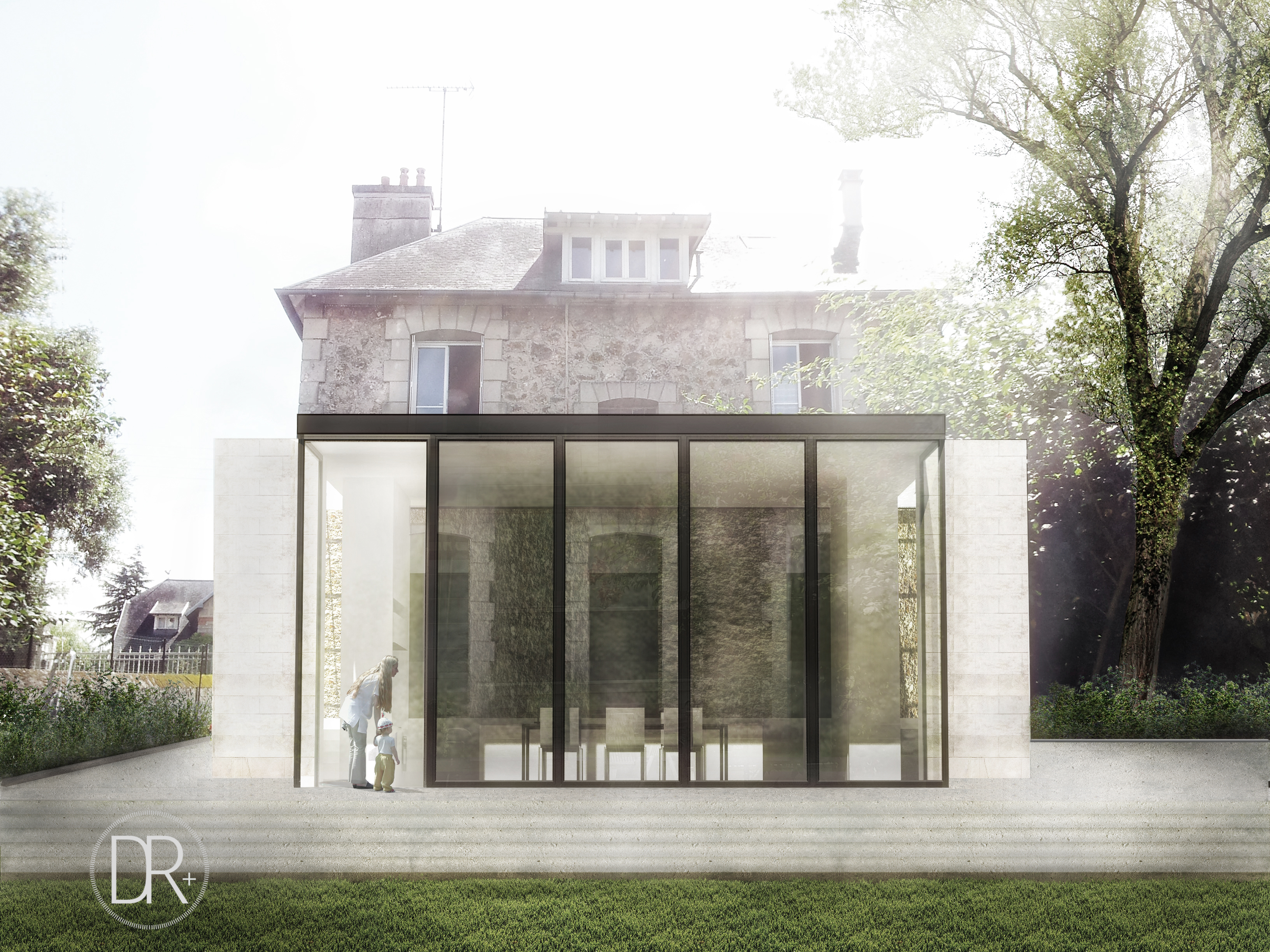 Extension cuisine sur jardin d r architectes for Cuisine extension